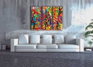multi coloured, wall art, canvas art, modern, contemporary, print, graffiti,