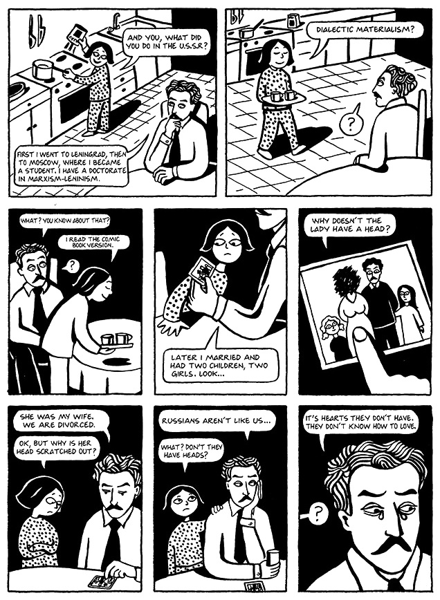 Read Chapter 8 - Moscow, page 57, from Marjane Satrapi's Persepolis 1 - The Story of a Childhood