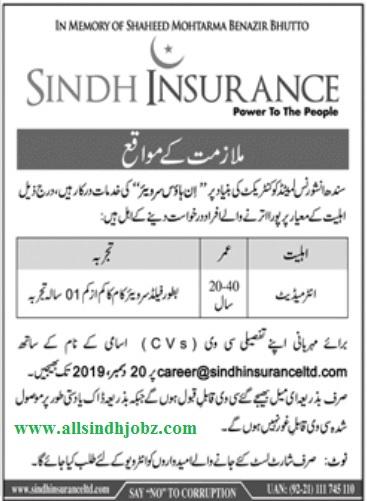 Sindh Insurance Limited Field Surveyor Jobs 2020 Latest