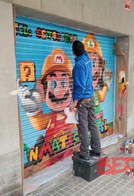 graffiti Mario Bros