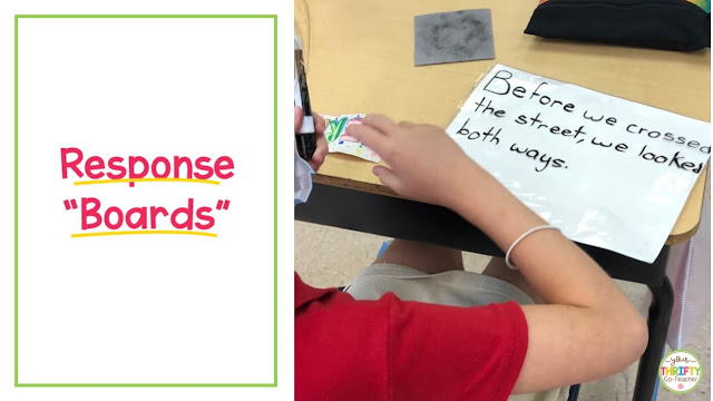 Response boards are a great engagement tool to use during face-to-face or socially distanced instruction.