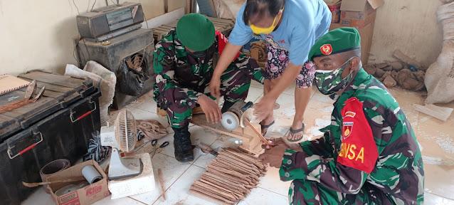 Bintara Otsus Papus Belajar Cara Mengolah Limbah Batok Kelapa