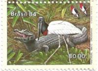 Selo Pantanal e o jacaré