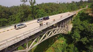 jembatan lau luhung gunung meriah sibatakjalanjalan