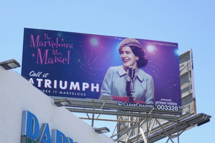 Mrs Maisel Call it a Triumph Emmy FYC billboard
