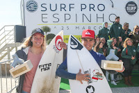 0 Melania Suarez Diaz ESP and Mathis Crozon FRA Junior Pro Espinho foto WSL Laurent Masurel
