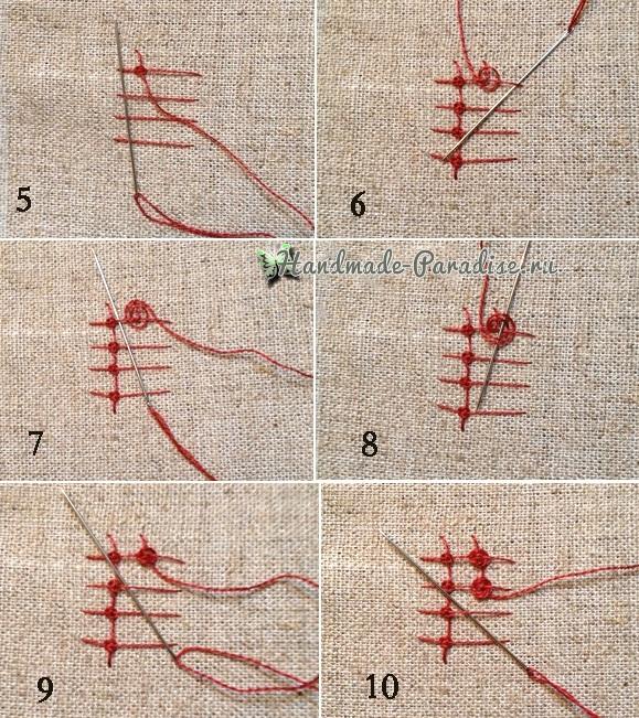 Объемная вышивка «Зонтик» (3)