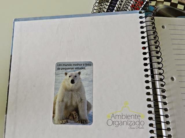 Caderno reaproveitado