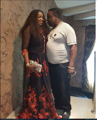 """When You're Married To Your God Sent"": Actor Mr Ibu Shows Off His Lovely Wife"