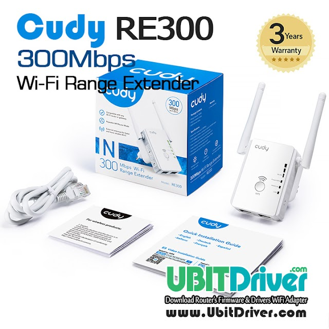 Firmware Cudy RE300 WiFi Range Extender 300Mbps