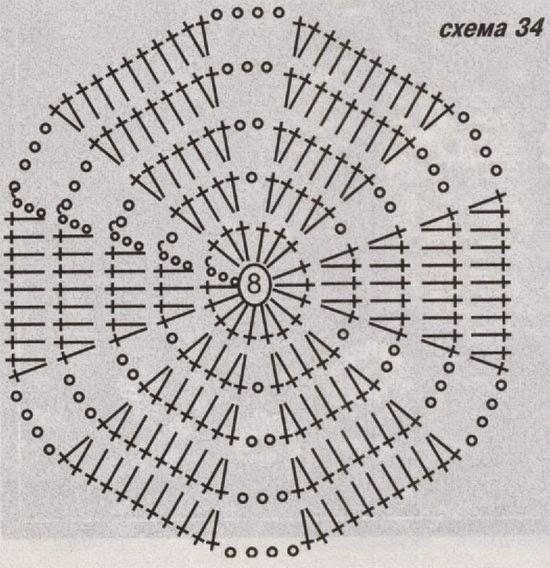 крючком шестиугольник схемы