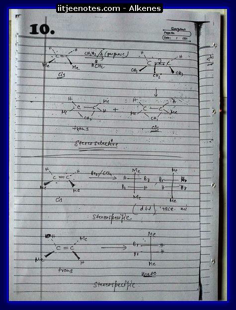 Alkenes organic