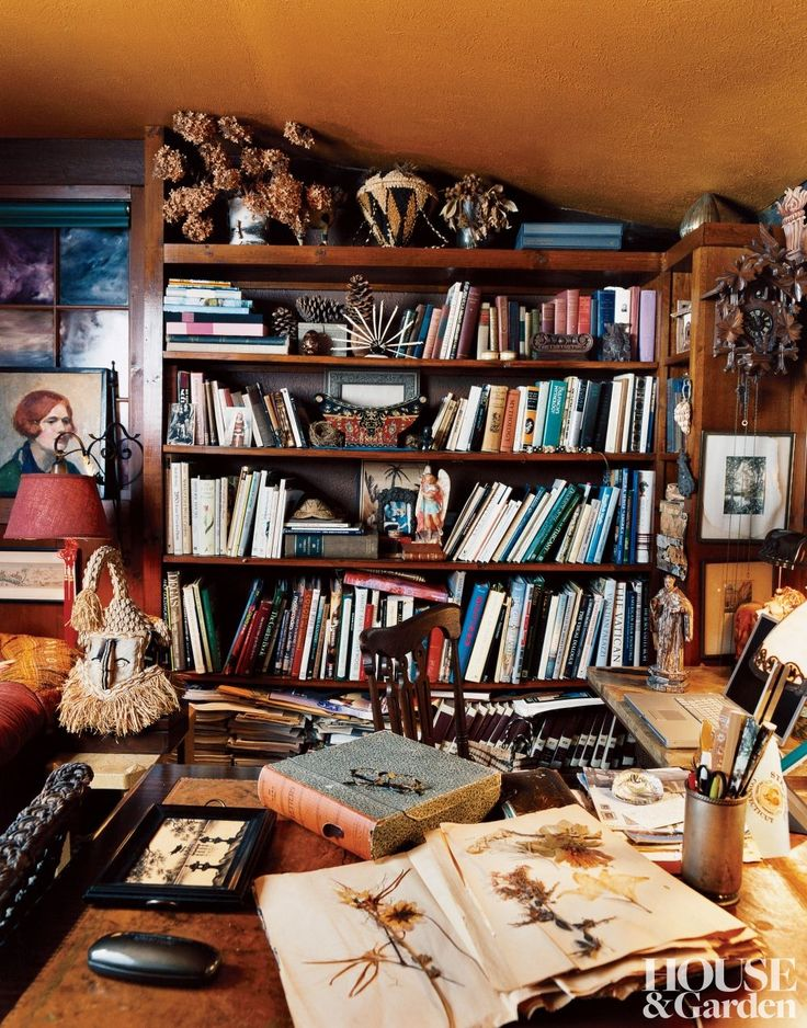 Cottage Home Library: Lunch & Latte: Inspiration: Library Rooms