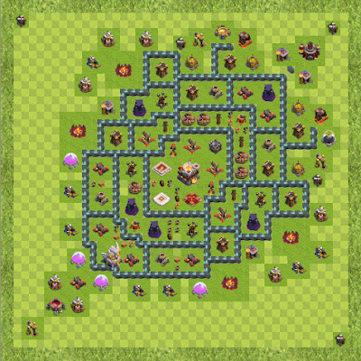 War Base Town Hall Level 11 By Michael Morales (Kori TH 11 Layout)