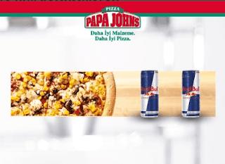 papa john's menü fiyat listesi kampanya ve şubeleri redbull menüsü pizza siparişi