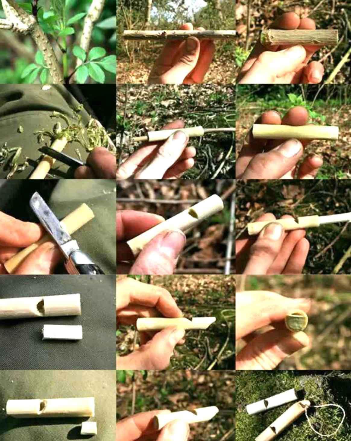 Como hacer pitos, silbatos o flautas caseras