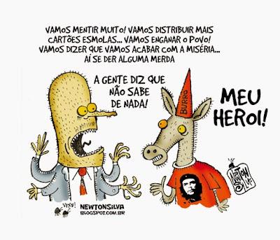 Resultado de imagem para heroi do povo brasileiro charge