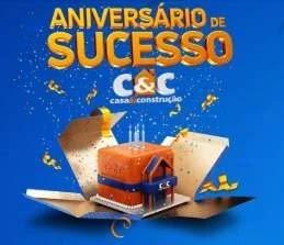 Cadastrar Promoção C&C Aniversário 2019 de Sucesso - 2 Carros e Prêmios Todo Dia