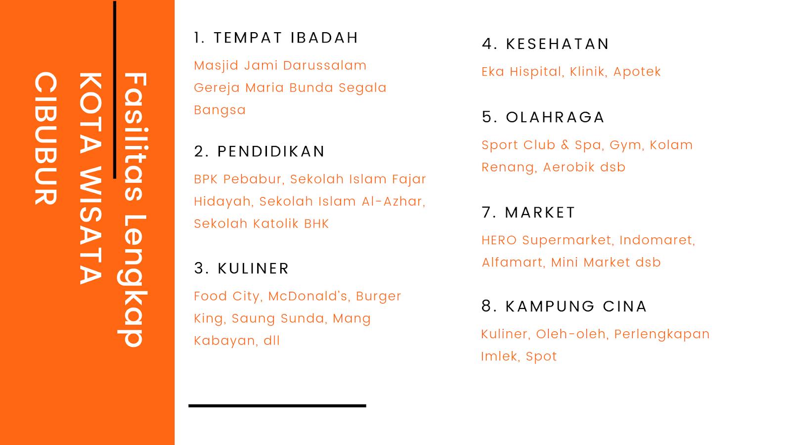 Fasilitas Lengkap Kota Wisata Cibubur Jadikan Cluster