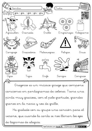 LOS PITUFOS DE SANTAELLA: Fichas para trabajar las sílabas