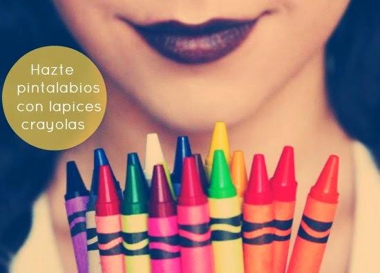 pintalabios,con crayolas