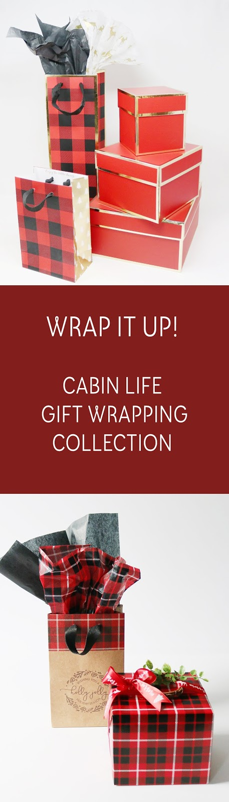 Cabin Life Holiday Collection - wildwood theme & winter plaids | www.creativebag.com