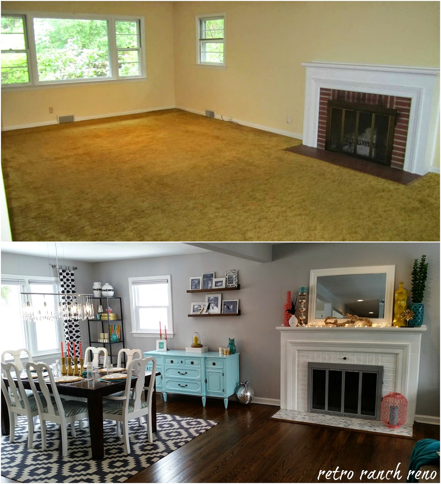 Living And Dining Room: Retro Ranch Reno: Our Rancher: Before & After