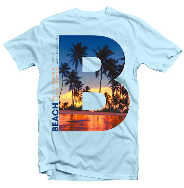 Beach tshirt design
