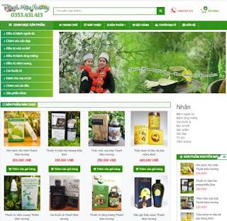 Giao diện Web bán hàng Thảo dược - Theme Blogspot - Blogspotdep.com