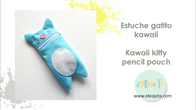 tutorial costura estuche kawaii