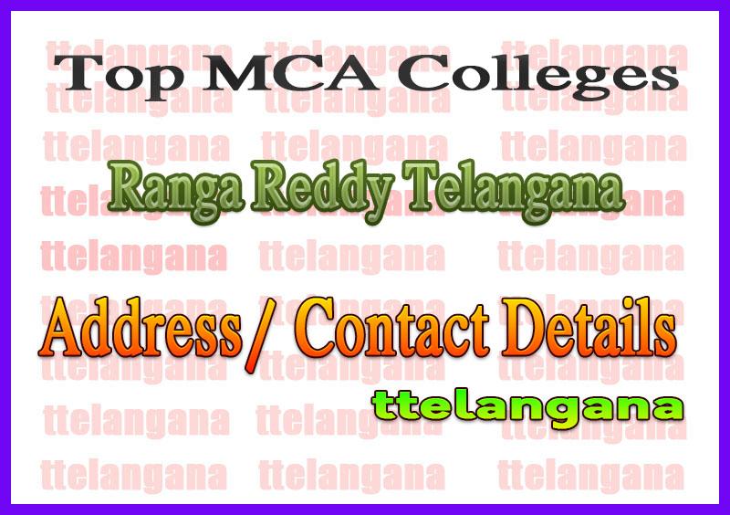 Top MCA Colleges in Ranga Reddy Telangana