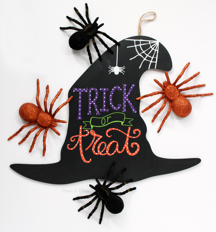 Hand-Lettered Halloween Witch's Hat