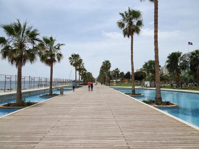 One Week in Cyprus Itinerary: Limassol beach boardwalk