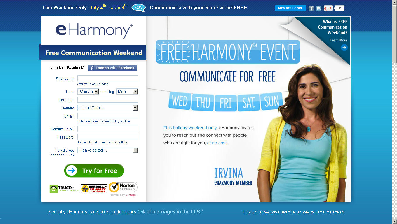 harmony online dating