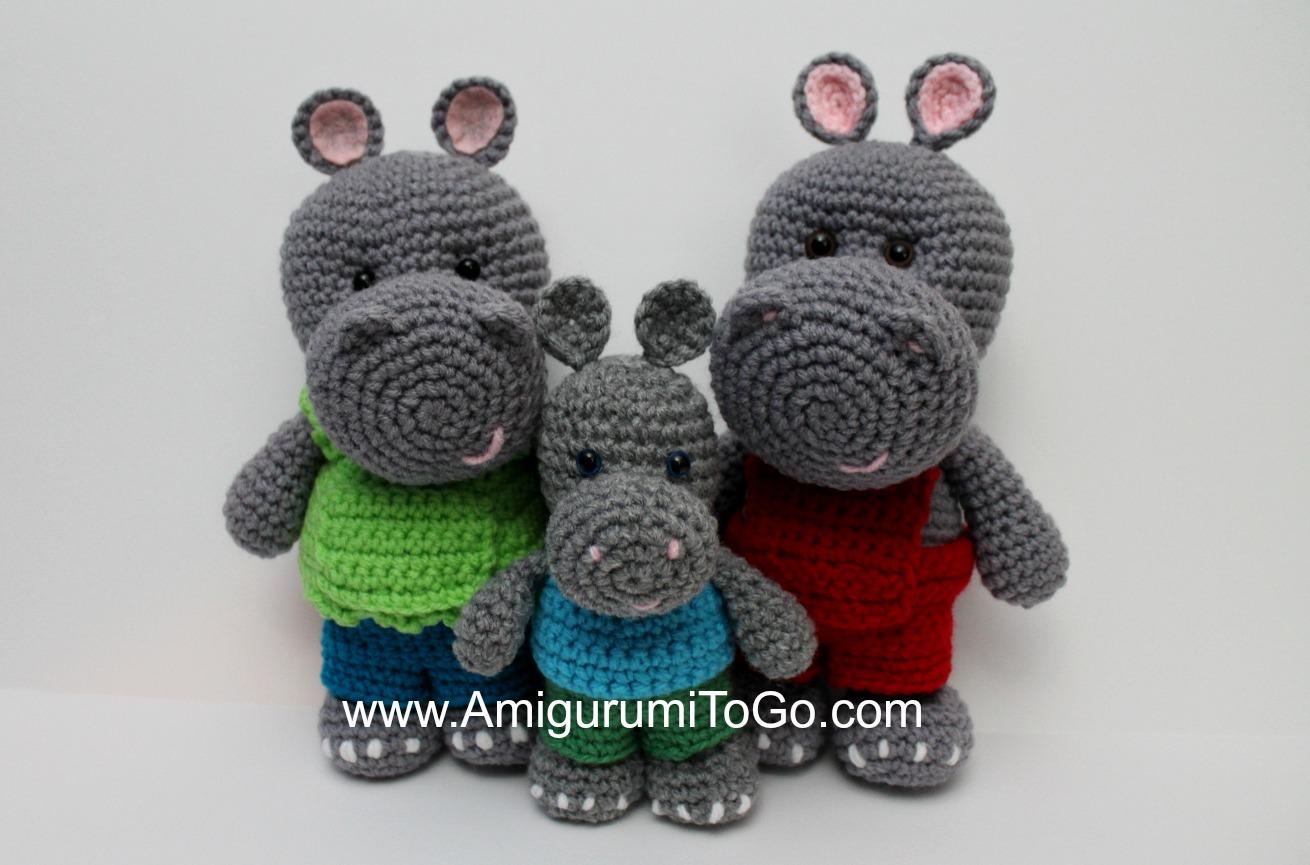 Lion Amigurumi To Go : Little bigfoot hippo amigurumi to go
