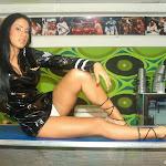 Andrea Rincon, Selena Spice Galeria 5 : Vestido De Latex Negro Foto 13