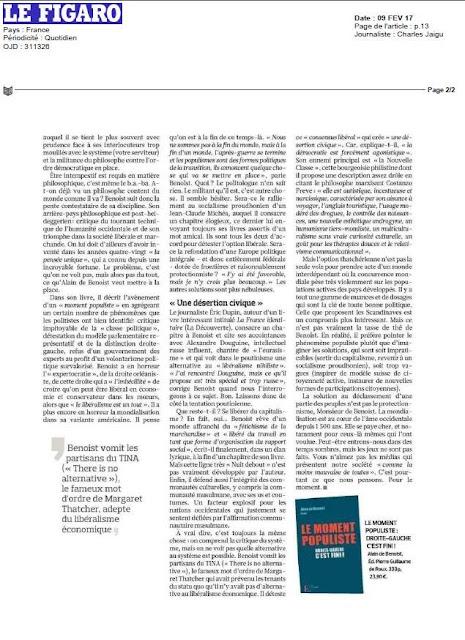 Moment Populiste Alain de Benoist