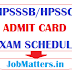 HPSSSB Admit Card 2020 Exam Dates: Download Hall Ticket for HPSSC Screening Test 2020 @ hpsssb.hp.gov.in