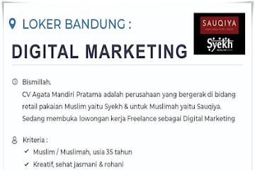 Lowongan Digital Marketing Sauqiya Bandung