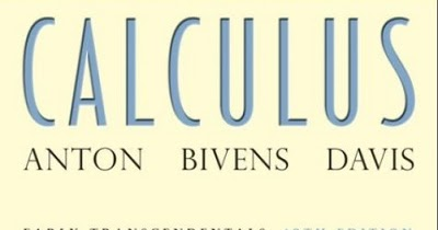 Solution Of Calculus By Howard Anton 10th Edition Pdf