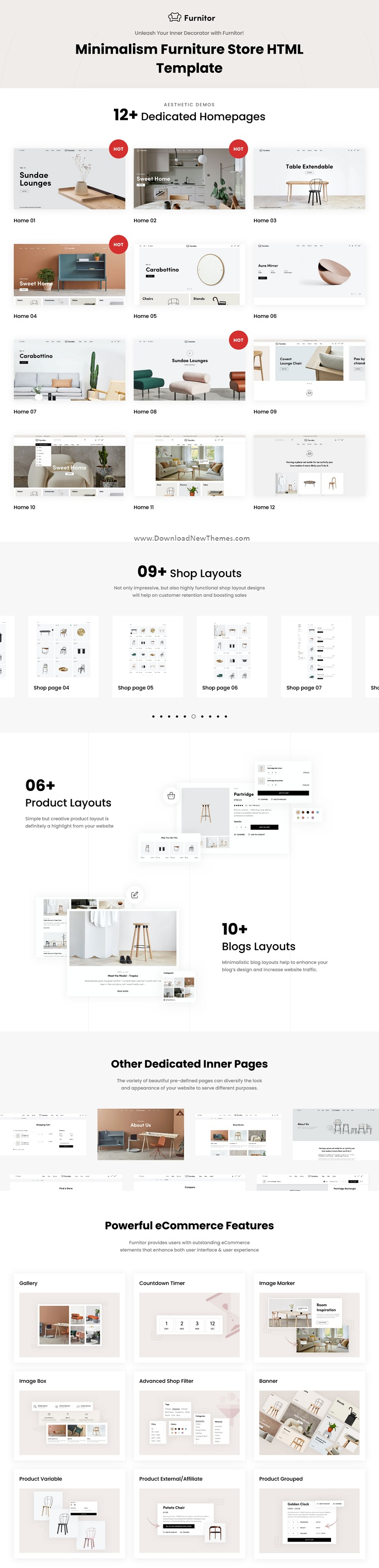Furnitor - Minimalism Furniture Store HTML Template