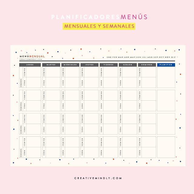 planificadores menu