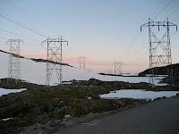 Kraftledninger Fortun-Årdal. Foto NVE. Lisens CC by-sa 2.0