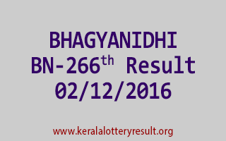 BHAGYANIDHI BN 266 Lottery Results 2-12-2016