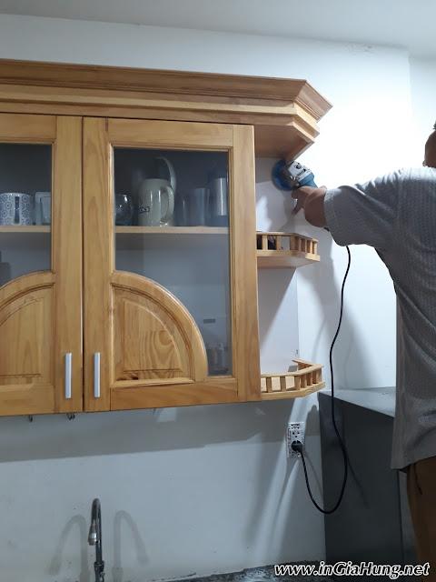Thi công Vách bếp kính cường lực in tranh tại Q2 - TpHCM