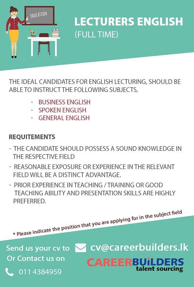 Lecturer English