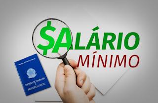 Novo valor do salário mínimo já está em vigor