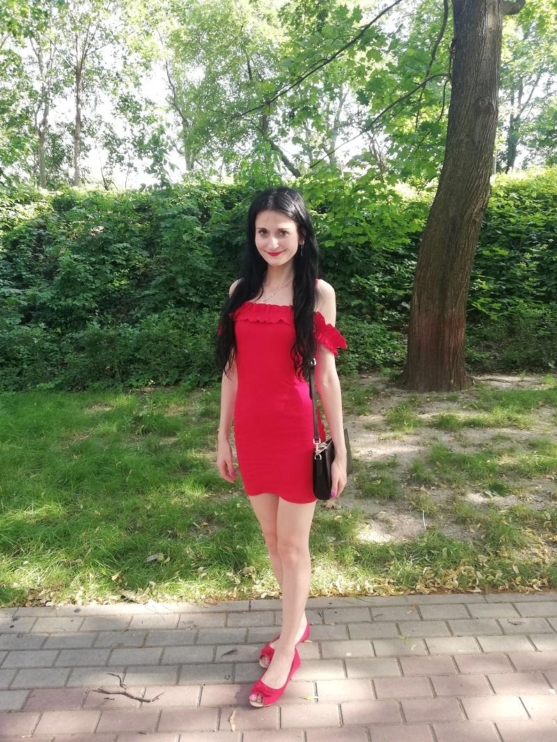Wassyl czerwona sukienka hiszpanka