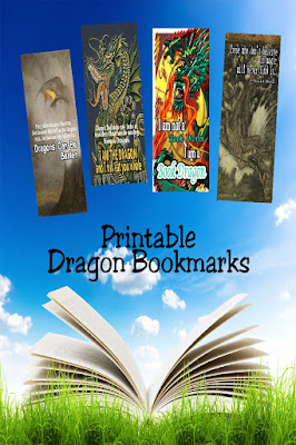 Celebrate your inner dragon with these printable bookmarks.  You'll find four dragon bookmarks to save your place and challenge anyone who tries to make you stop reading. #printablebookmark #dragonbookmark #diypartymomblog
