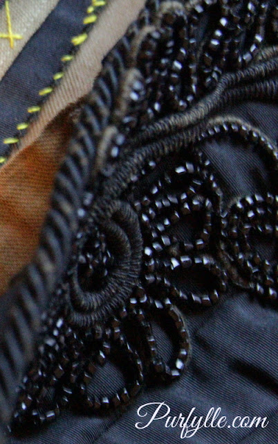 detail: beaded Victorian bodice